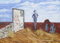 Spiegel, Wesen, Mauer, Wüste