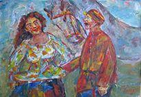 Figural, Malerei, Begegnung
