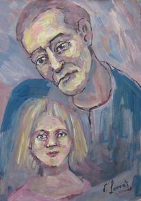 Figural, Malerei, Portrait, Doppelt