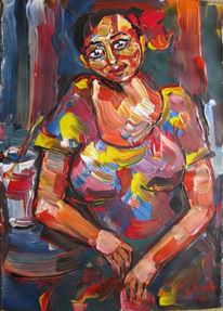 Malerei, Figural, Erwartung