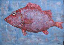 Malerei, Fisch,