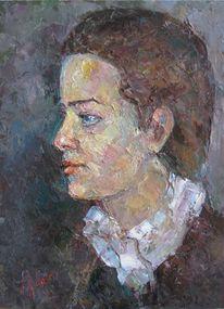 Malerei, Menschen, Profil,