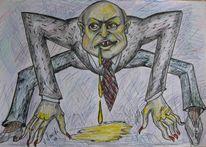 Zeichnung, Zeichnungen, Giftig, Spinne
