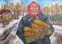 Malerei, Figural, Brot