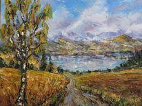 Landschaft, Malerei, Herbst