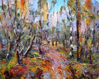 Landschaft, Malerei, Figural, Wald