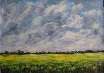 Landschaft, Malerei, Feld, Himmel