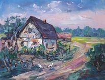 Landschaft, Malerei, Hof