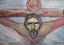 Malerei, Kreuzigung,
