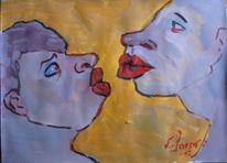 Malerei, Kuss,