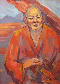 Malerei, Lama, Mönch,