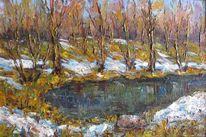 Malerei, Letzter, Schnee