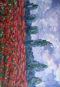 Malerei, Mohnfeld