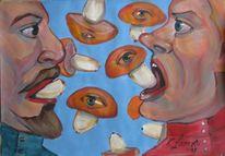 Malerei, Pilze, Augen,
