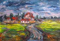 Malerei, Regnerisch, Wetter