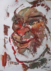 Malerei, Menschen, Satt,