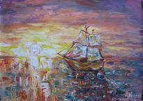 Malerei, Segelboot,
