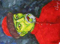 Malerei, Hemd, Selbstportrait