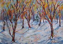 Landschaft, Malerei, Sonnig, Wetter