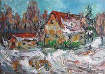 Malerei, Sonnig, Wintertag
