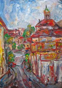 Landschaft, Malerei, Ecke
