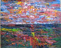 Landschaft, Malerei, Steppe
