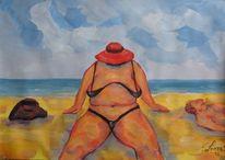 Figural, Malerei, Strand