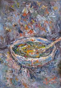 Malerei, Stillleben, Suppe