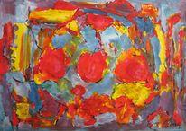 Malerei, Abstrakt, Tee