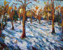 Malerei, Wintertag
