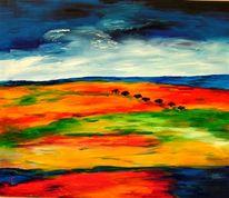 Landschaft, Afrika, Malerei