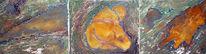 Krakelierlack, Ölmalerei, Mischtechnik, Acrylmalerei