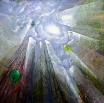 Wolken, Luftballon, Glas, Licht