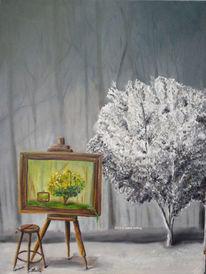 Bunt, Fantasie, Farben, Ölmalerei