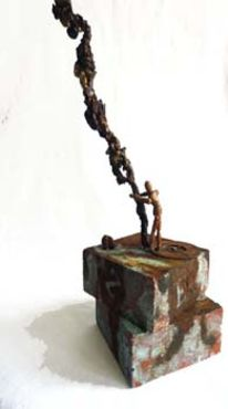 Uhr, Gnitlon, Figur, Skulptur