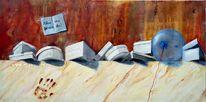 Ölmalerei, Handabdruck, Deckel, Keks