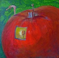 Leiter, Landschaft, Apfel, Haus