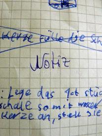 Notiz, Zeichnungen