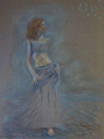 Traum, Leinen, Reise, Ölmalerei