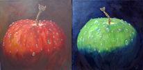 Elemente, Wasser, Frau, Apfel