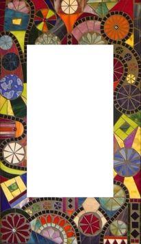 Jürgen traulsen, Tiffanyglas, Mosaikspiegel, Kunstspiegel