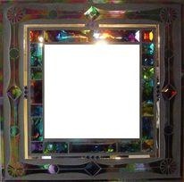 Mosaikspiegel, Tiffanyglas, Kunstspiegel, Kunsthandwerk