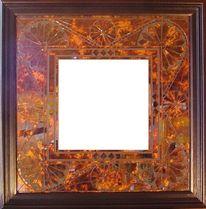 Mosaikspiegel, Kunstspiegel, Tiffanyglas, Kunsthandwerk