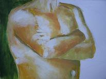 Akt, Licht, Acrylmalerei, Braun