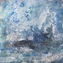 Pigmente, Blau, Collage, Sand