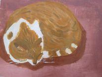 Katze, Studie, Acrylmalerei, Zeichnen