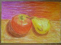 Stillleben, Studie, Pastellmalerei, Zeichnung