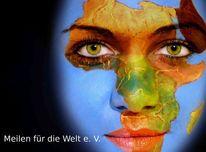 Planet, Augen, Afrika, Logo