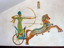 Ägypten, König, Hieroglyphen, Streitwagen
