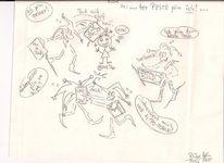 Commickx auf papier, Zeichnungen, Comic